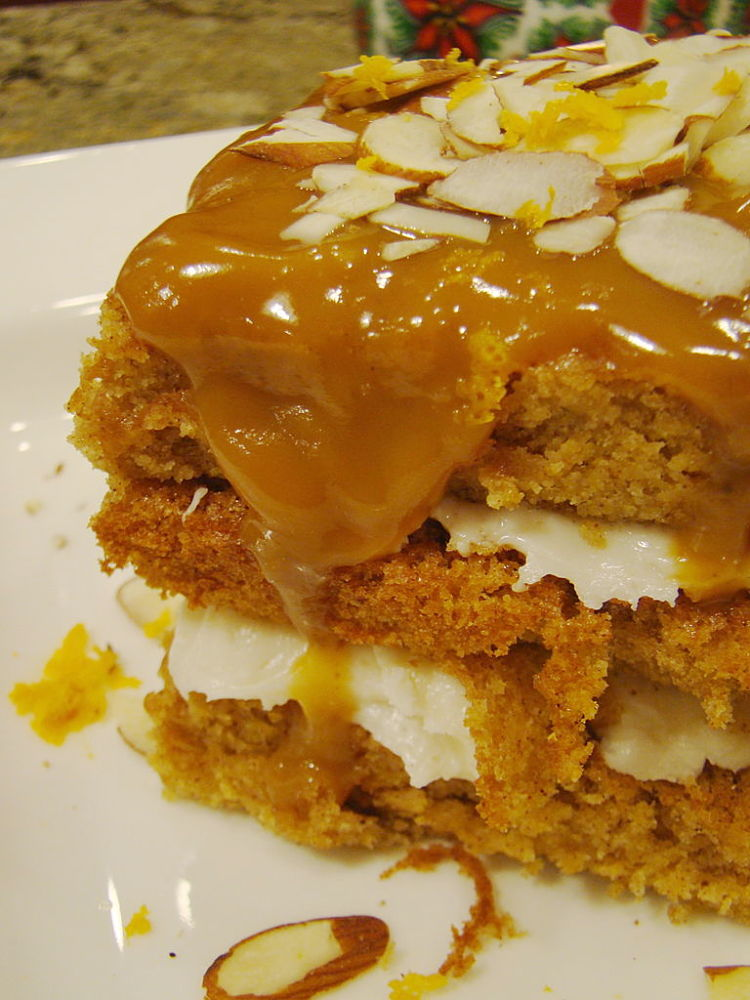 Cream cheese combines well with sweet caramel sauces