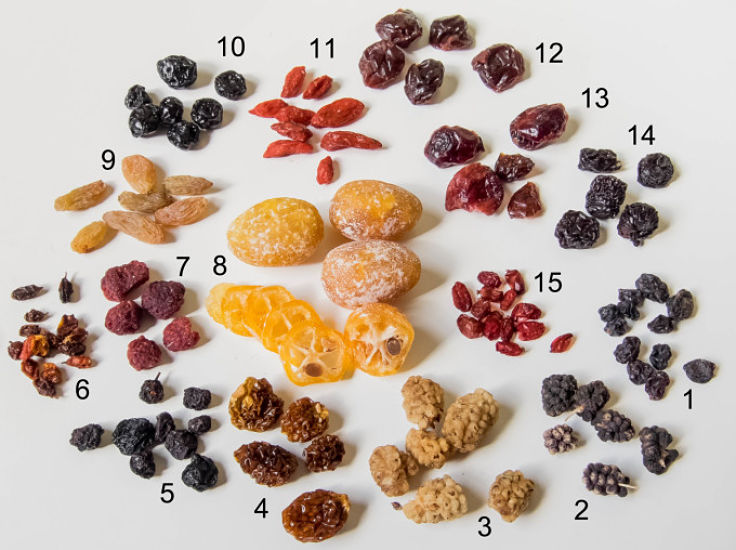Dried fruit tends to have very high fiber levels, but the sugar and calories are also highly concentrated. So dried fruit shown be consumed in moderation.