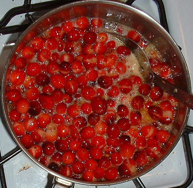 Cranberries are easily cooked and are used in a variety of savory and sweet dishes