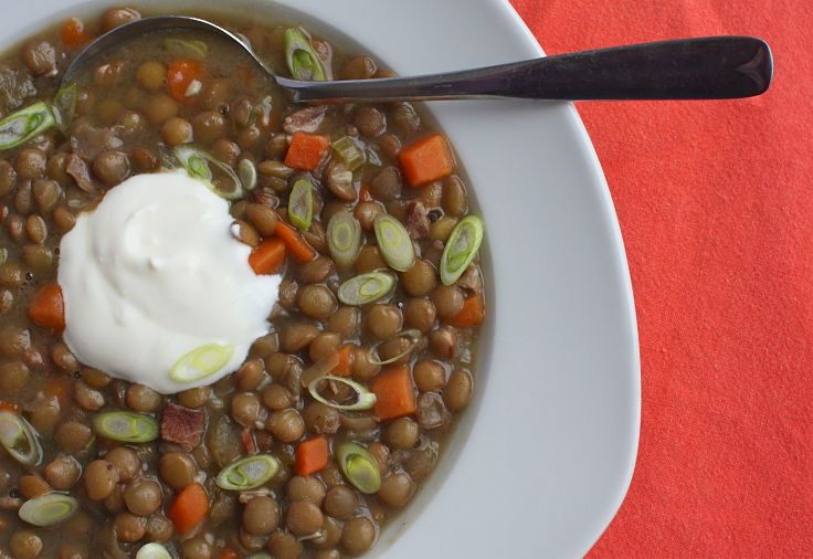 French lentil soup - discover just how healthy lentils are using the charts in this article