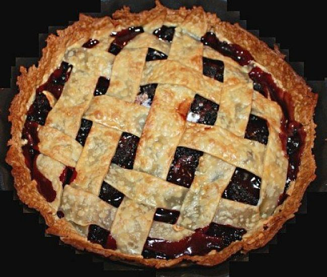 Mulberry pie is a delightful dish especially when made from fresh fruit, picked ripe from your own tree.