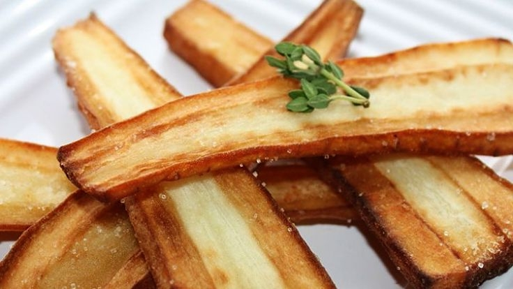 Parsnips can be baked in the oven until brown and crisp on the outside. Delicious!
