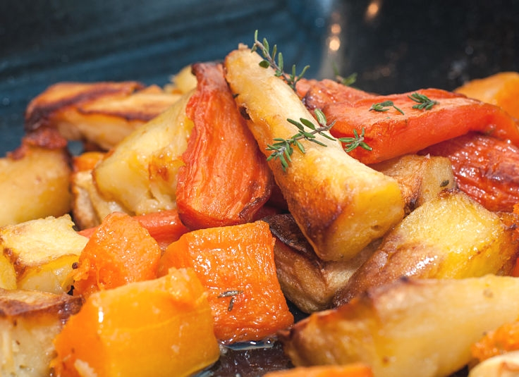Do a mixed vegetable 'bake-up' with pumpkin, carrots, parsnips and potatoes. Add rosemary and other herbs to enhance the flavors. The variety of tastes, textures and colors are very appealing.
