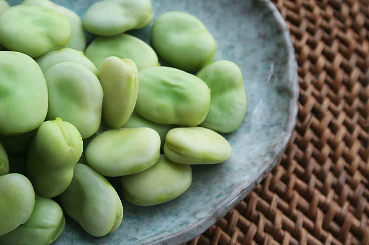 Broad beans (Fava Beans) are a delight steam or boiled straight from the pods