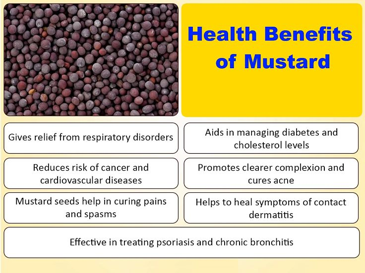 Mustard has an outstanding array of health benefits - see the details in this article