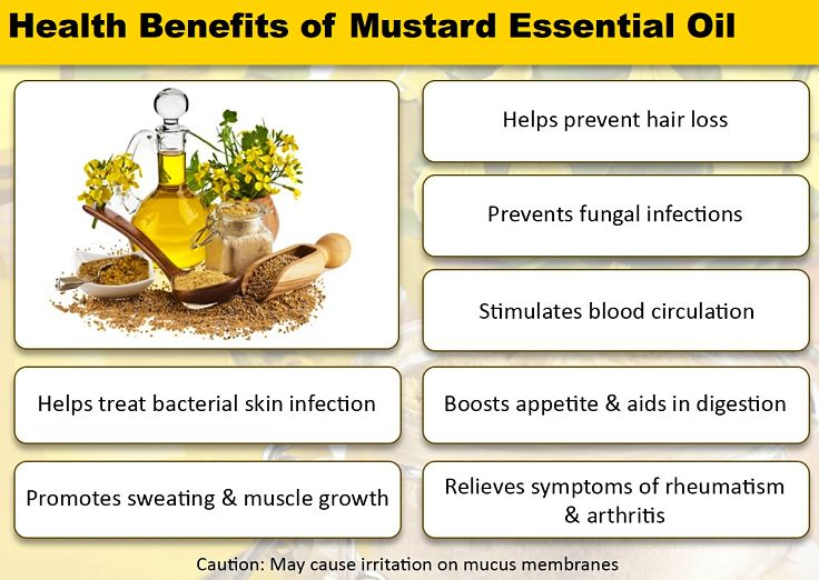 More health benefits of Mustard Essential Oil