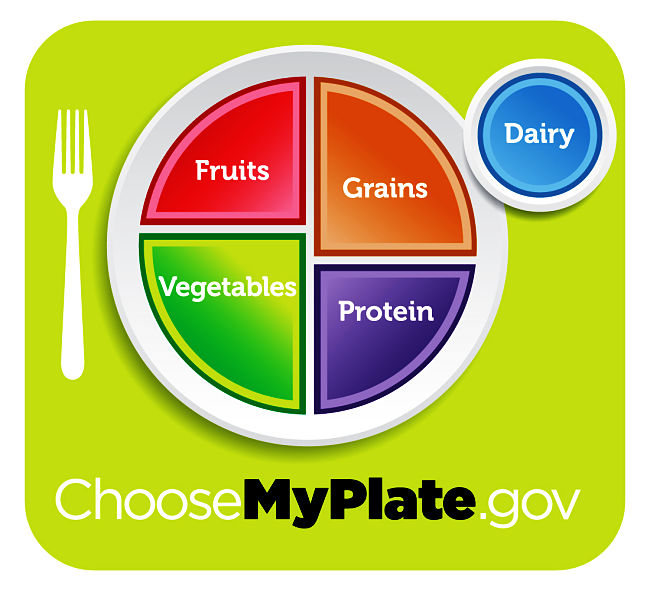 Current version of MyPlate by the USDA