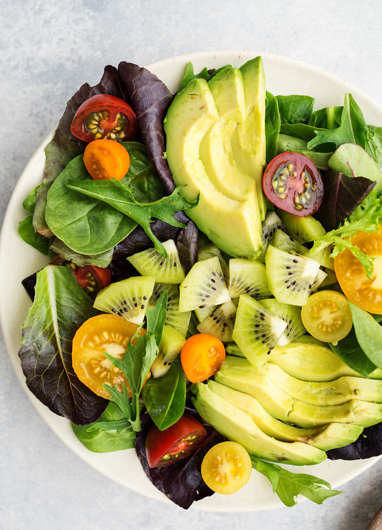 Bright, fresh, and easy, this Kiwi Avocado and Tomato Salad recipe is a delight, showcasing the delights of kiwi fruit