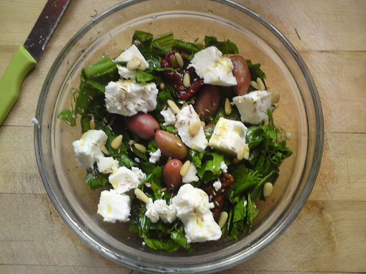 Pine nuts are delicious in salads providing crunch, flavor and nutrients