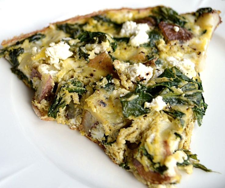 Turnip top potato and feta frittata - see more recipes here.
