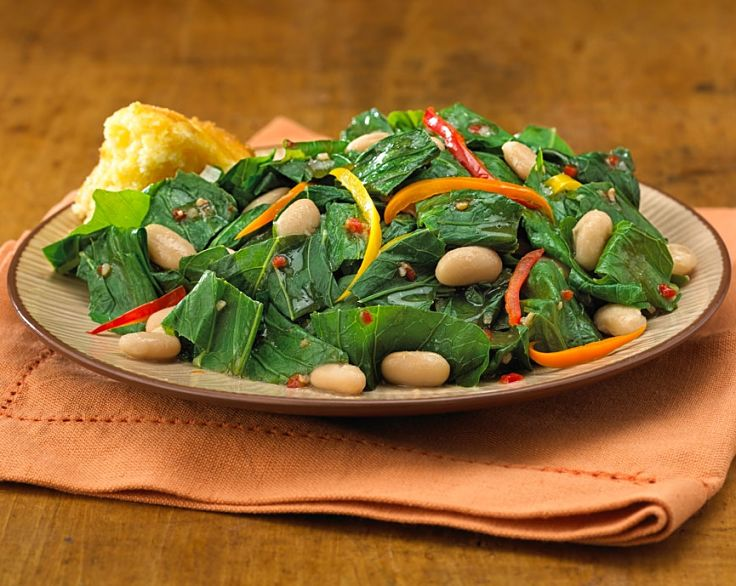 Stir-fried turnip tops with pine nuts and capsicum slices - see the other recipes here